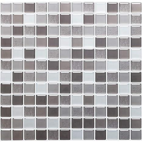 Yoillione Peel And Stick Tiles Kitchen Tile Wallpaper Bathroom Tile Transfers Waterproof 3d Mosaic Tile Stickers For Kitchen Tile Decal Stickers Self