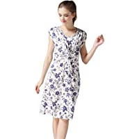 Emotion Moms Summer Flower Maternity Clothes Breastfeeding Nursing Dresses for Pregnant Women