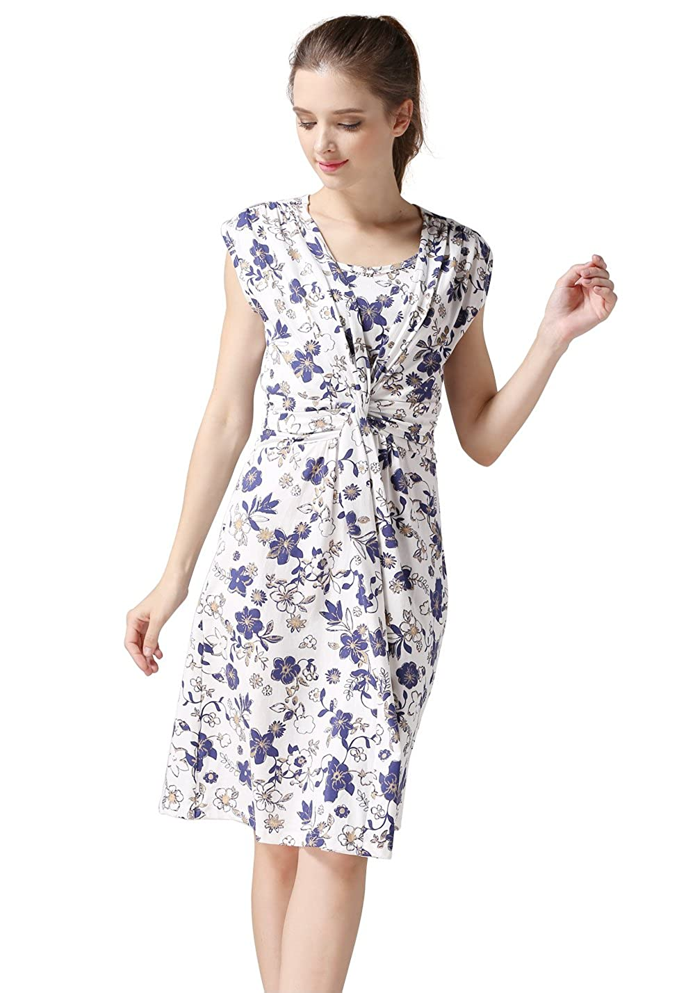 ed6a4cee7f3bb Emotion Moms Summer Flower Maternity Clothes Breastfeeding Nursing Dresses  for Pregnant Women at Amazon Women's Clothing store: