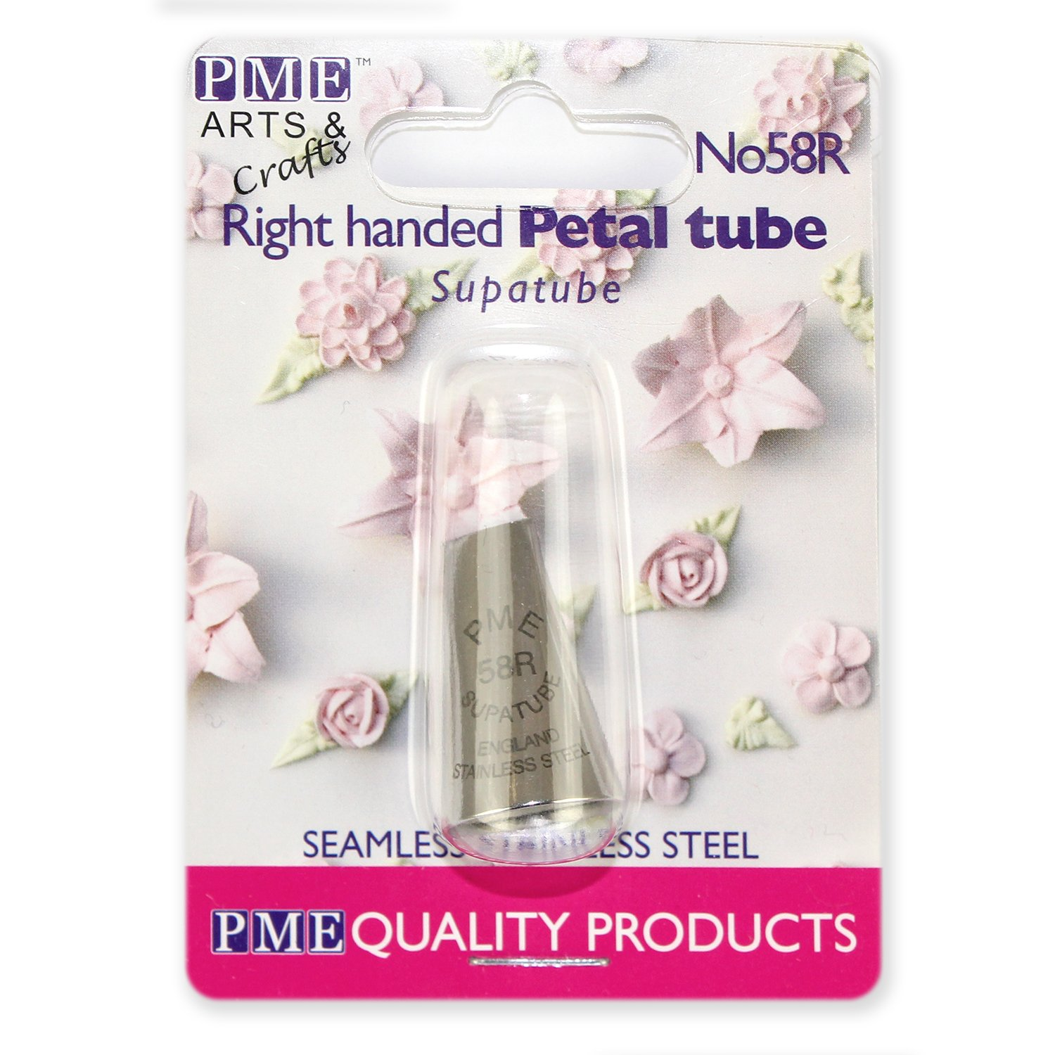 Large Silver PME ST58R Supatube Decorating Tip Petal Right Handed #58R Standard