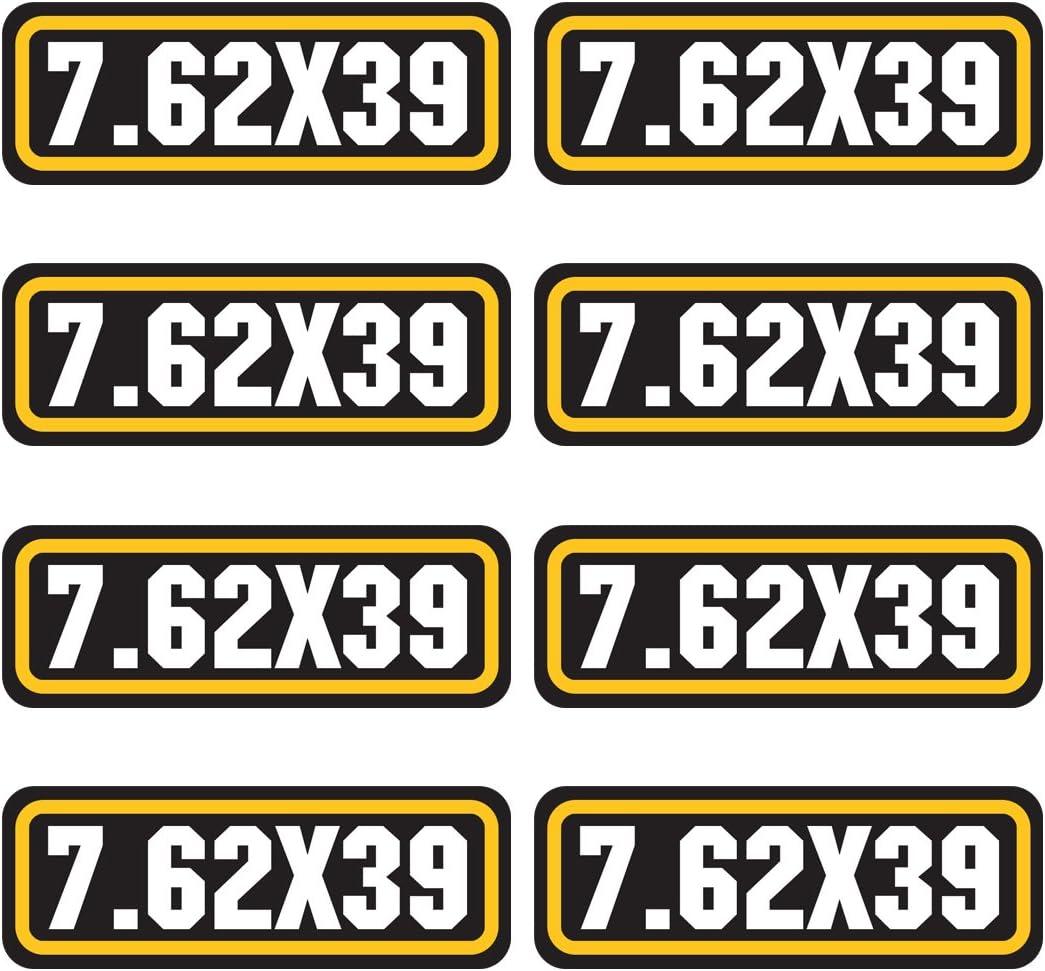 AZ House of Graphics 7.62x39 Ammo Sticker 8 Pack