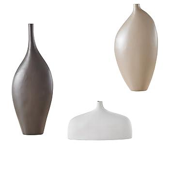 Amazonde Große Blumenvase 3 Teilig Set Vasen Aus Porzellan