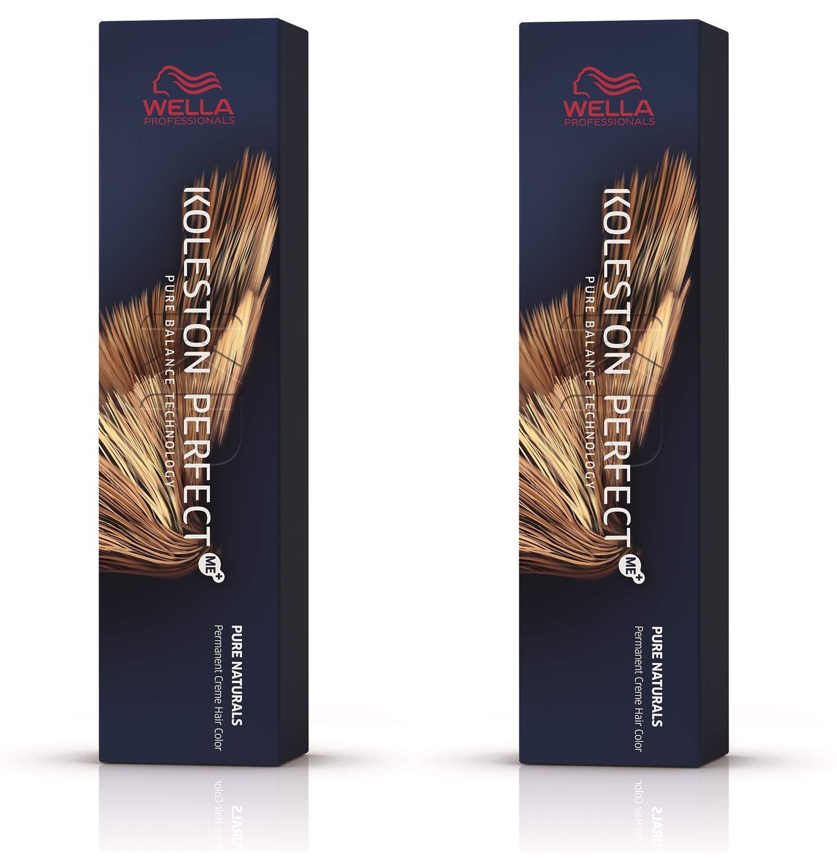 Wella Koleston Perfect ME+ KP Pure Naturals 55/0 Light Brown Intense Natural Hair Colour, Pack of 2