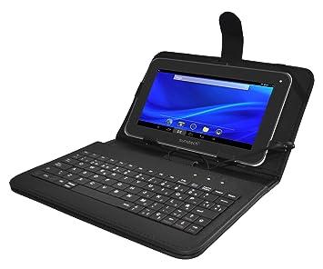 """Sunstech KEY7BK - Funda universal para tablet de 7"""" con función soporte y teclado integrado"""