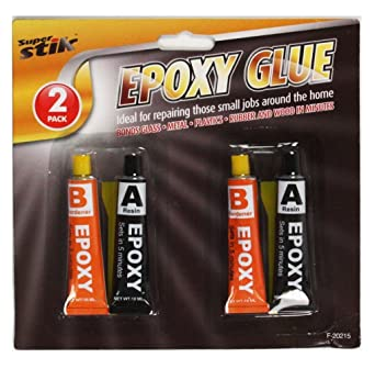 2 x EPOXY GLUE SET - SUPER STRONG HOLD IN JUST 5 MINUTES - RESIN & HARDENER  - USEFUL TO BOND GLASS / CERAMICS / FABRIC / METALS / PLASTICS -