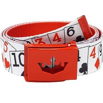 Meister Cinturón ajustable y reversible para jugar al golf, diseños exclusivos, hombre, hot pink