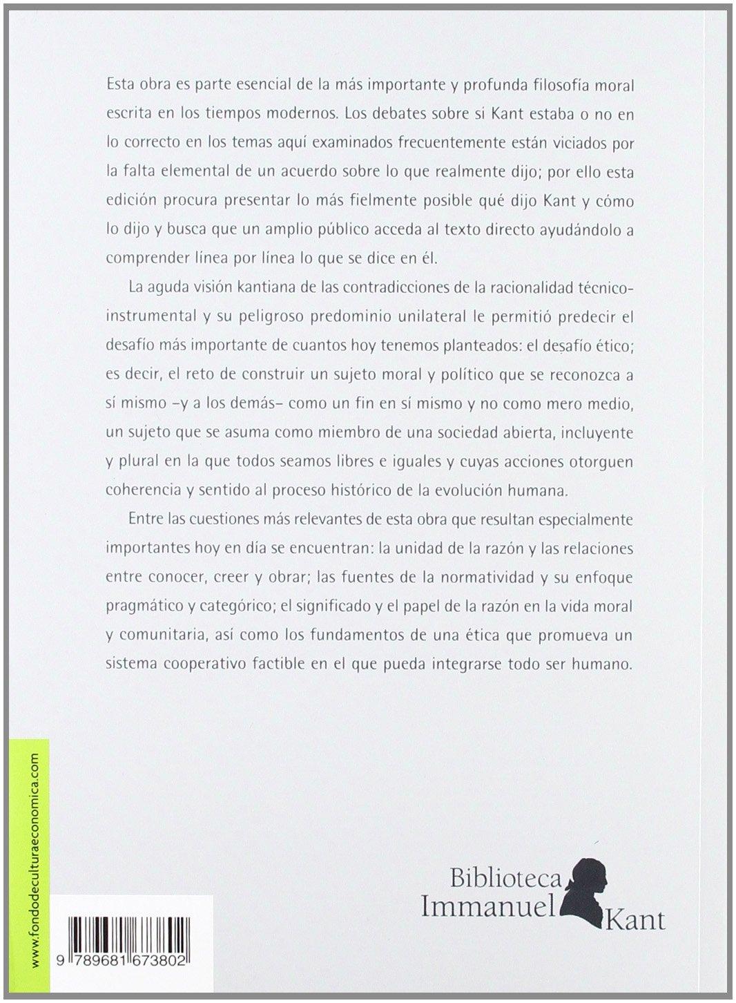 Crítica De La Razón Práctica Biblioteca Immanuel Kant: Amazon.es: Immanuel Kant: Libros