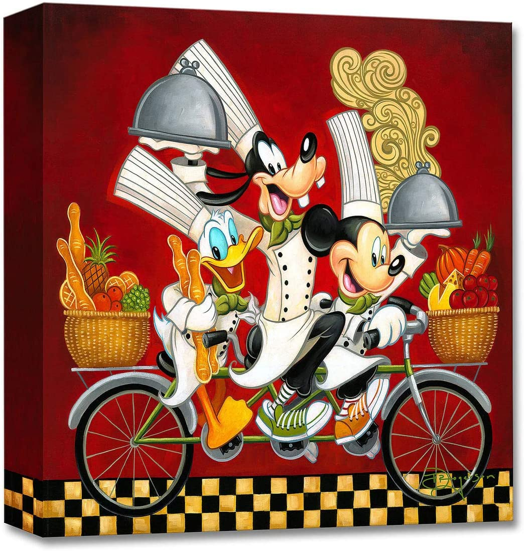 Tim Rogerson Wheeling with Flavor - Treasures on Canvas - Disney Fine Art - 14 x 14 Gallery Wrapped Canvas Wall Art