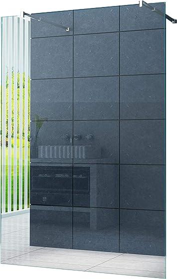 Independiente 10 mm Mampara de ducha Düsseldorf 88 x 200 cm Vidrio transparente / Walk-In Cabina de ducha Ducha Vidrio de seguridad: Amazon.es: Bricolaje y herramientas