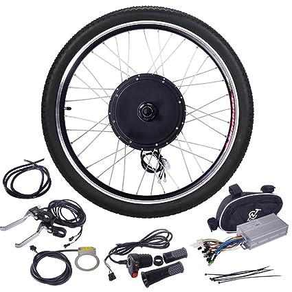 "428dcb88219 JAXPETY 48V 1000W Electric Bicycle Cycle E Bike 26"" Rear Wheel Ebike  Hub Motor Conversion"
