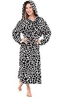 Alexander Del Rossa Womens Fleece Robe, Long Hooded Bathrobe