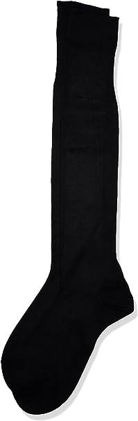 POMPEA Scozia Calcetines altos, Nero (Nero 0071), 39/40 ES(talla del fabricante:10/10.5) (Pack de 6) para Hombre