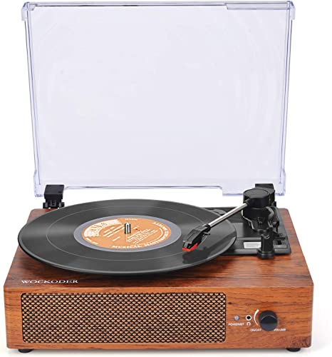 Record Player Turntable for Vinyl Records 3 Speed Vinyl Record Player with Stereo Speakers Belt Driven Vintage Record Player Vinyl Player