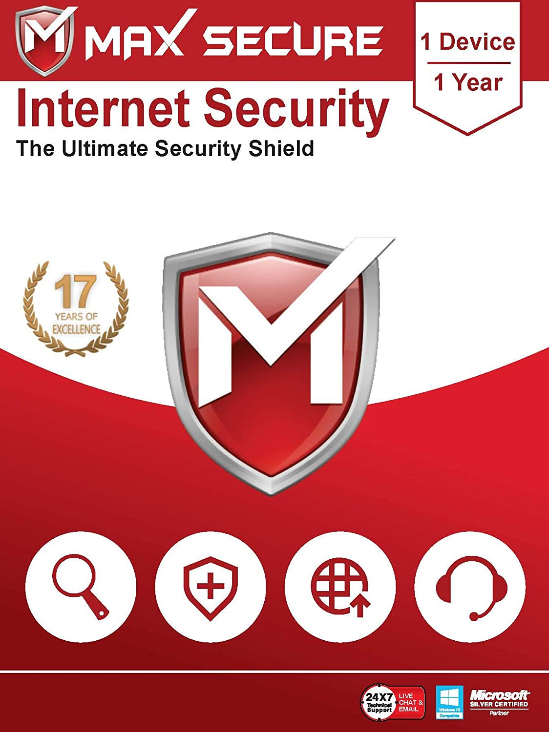 Max Secure Software Internet Security for PC 2019 | Antivirus | 1 Device | 1 Year (Activation Key Card)