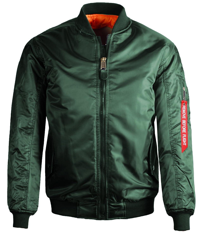 Guytalk Mens Reversible Flight Bomber Jacket