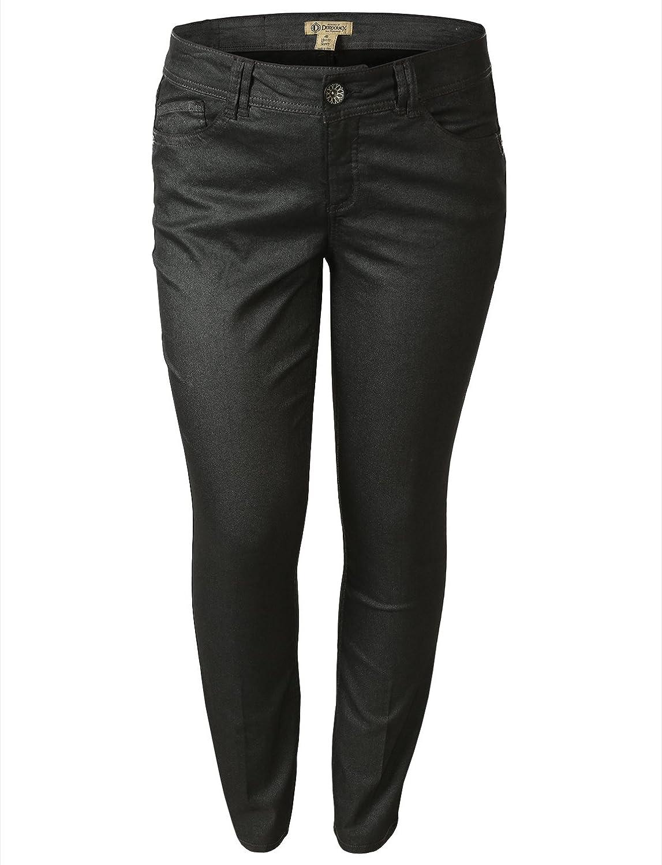 Democracy Women's Skinny Leg Metallic Jean
