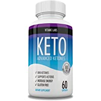 1 Keto Advanced Original - BHB Supplement for Ketosis Support - 60 Capsulas - 1 Mes de tratamiento