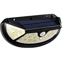 Luz Solar Exterior 100 LED, Foco Solar 270º Iluminación con Sensor de Movimiento Impermeable 3 Modos Lámpara Solar para…