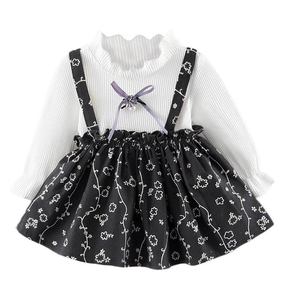 K-youth Vestido para Niñas, Recién Nacido Vestido Niñas Princesa Ropa De Fiesta De Flores De Manga Larga Bebé Niñas Vestidos De Princesa Niña Otoño Invierno Bautizo