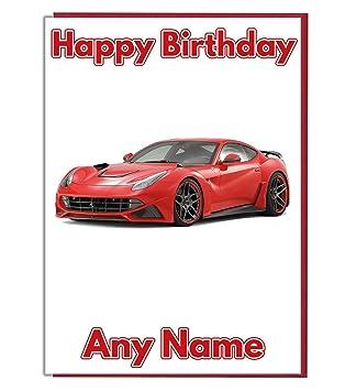 Carte joyeux anniversaire voiture a imprimer