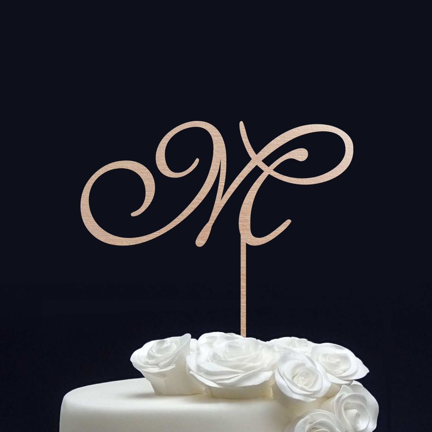Personalized WEDDING CAKE TOPPER//Initial Cake Topper for Wedding - Monogram Cake Topper Gold - Letter Cake Topper - Custom Cake Topper