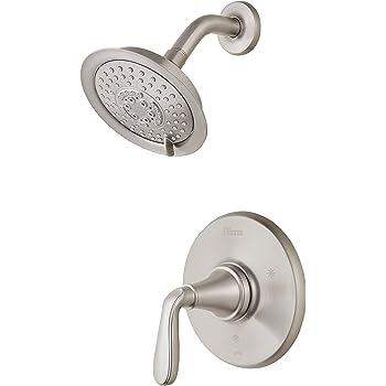 brushed nickel shower fixtures pfister pfister lg897mgk northcott 1handle shower trim only in brushed nickel