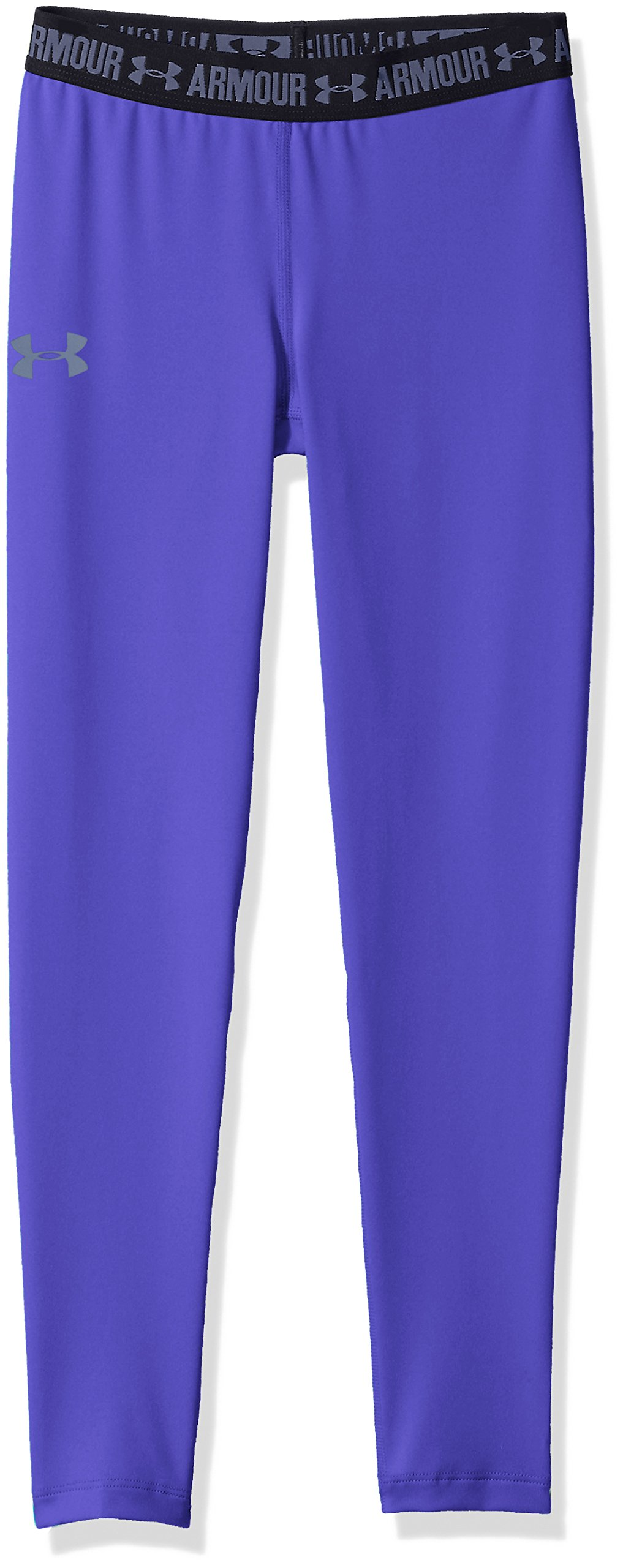 Under Armour Girls' HeatGear Armour Legging,Constellation Purple /Apollo Gray, Youth X-Large by Under Armour