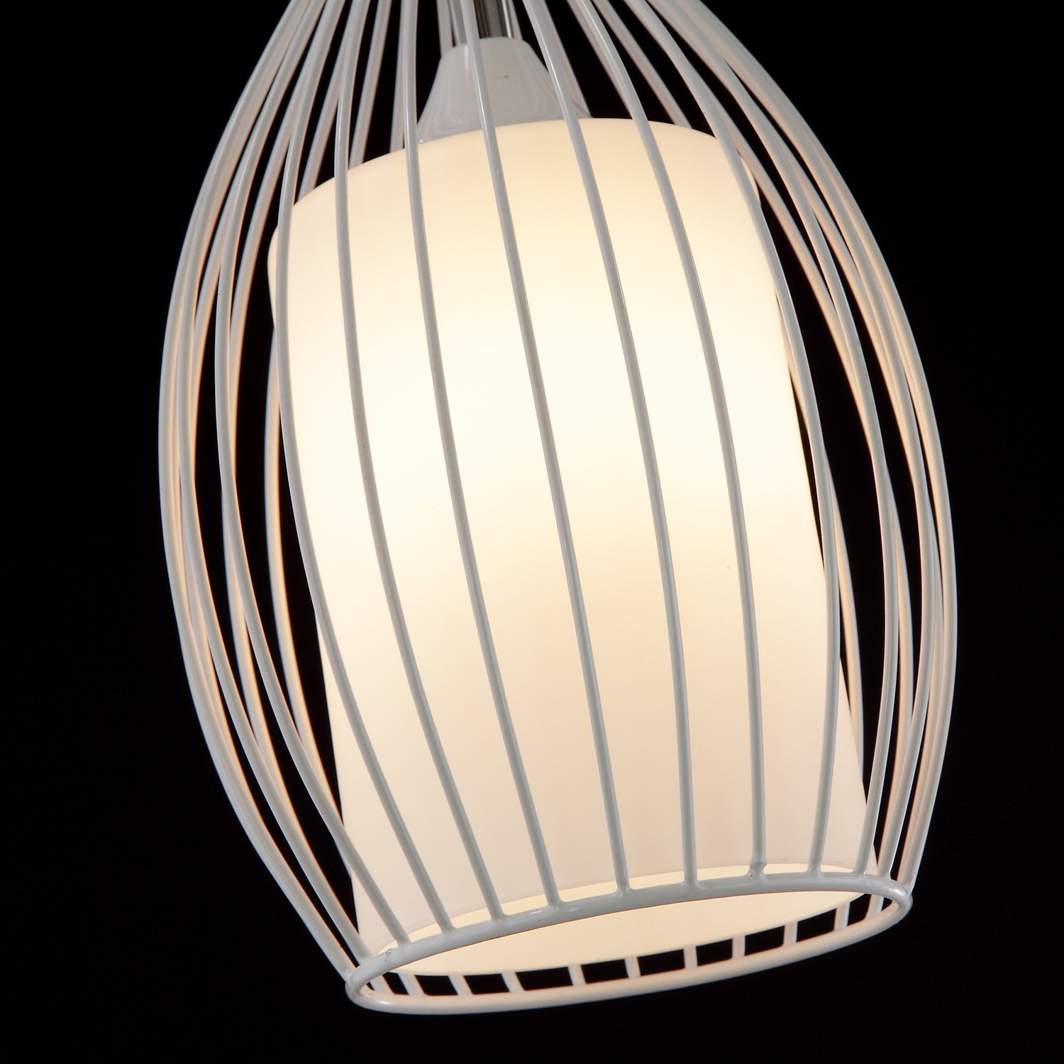 LivEditor Lighting One-light Pendant with Metal Cage Shade Kitchen Island Lamp(Y4051-WM) by Liveditor Lighting (Image #3)