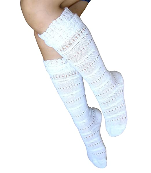 JHosiery Niña calcetines hasta la rodilla Pointelle sin costuras ...