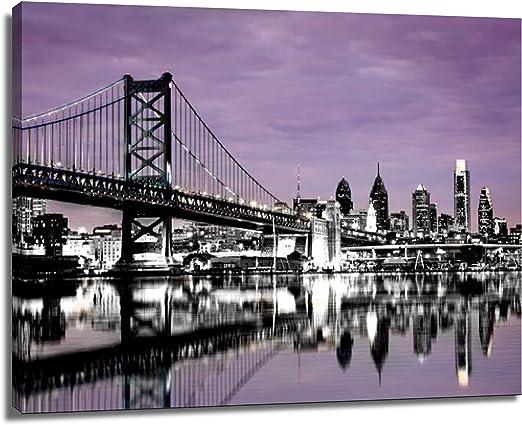 B/&W Brooklyn Bridge Canvas Wall Art Decor 12x24 3 Piece Set Total 24x36 inch