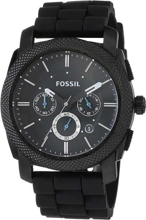 Fossil Reloj Cronógrafo para Hombre de Cuarzo con Correa en Silicona FS4487