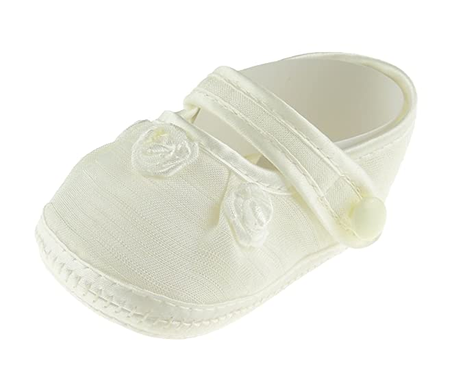9af18f4d2 Bebé Niños Niñas marfil Lace Up Zapatos de bautizo patucos sandalias de  roseta  Amazon.es  Ropa y accesorios