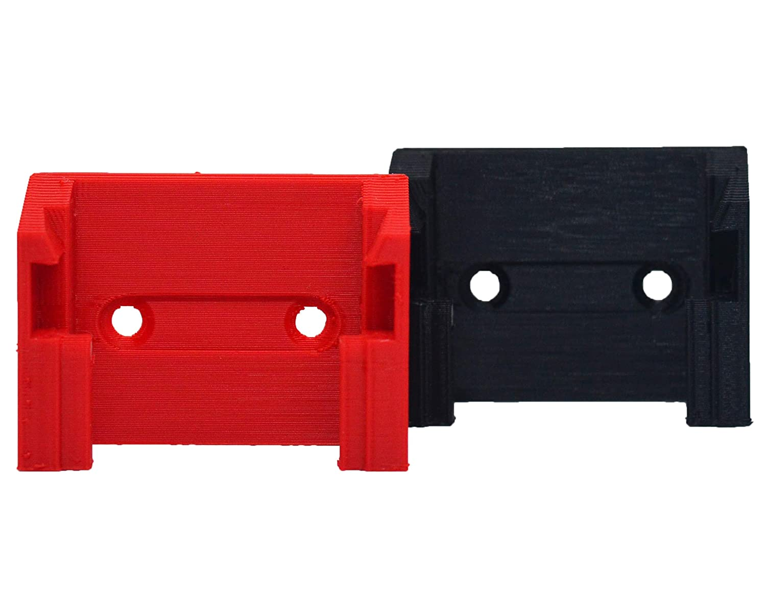 Screw or Ziptie Compatible Battery Holder Milwaukee M18 Slim Wall Mount 4-Pack Red