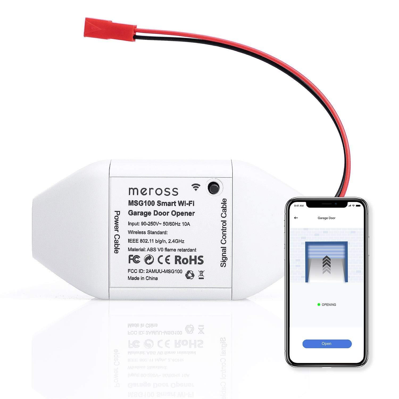 meross Smart Wi-Fi Garage Door Opener Remote, APP Control, Compatible With Alexa, Google Assistant and IFTTT, No Hub Needed