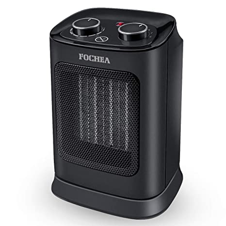 FOCHEA Calefactor Cerámico de Aire Caliente y Frio 1800W Estufa Electrica Bajo Consumo con Oscilación Automática, Protección contra Sobrecalentamiento y ...