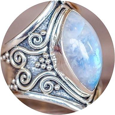 Amazon Com Vintage Silver Big Stone Ring For Women Fashion