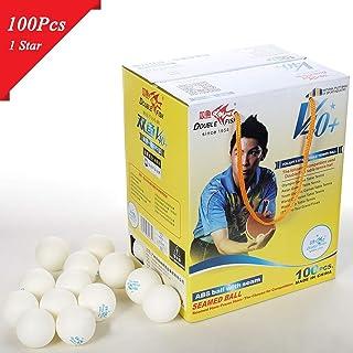 LoveOlvidoF 100pcs / Set Double Poisson V40 + 1 Étoiles 40mm Blanc Balles De Tennis De Table ABS Balles Cousues en Plastique Formation Ping Pong Balles