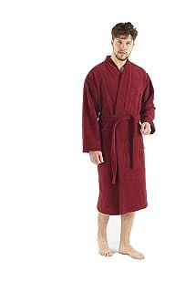 466c92e715 Bagno Milano Mens Robe – Non-GMO Turkish Cotton Interior – Soft Fleece  Exterior White