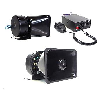 Kit de sistema de micrófono con alarma, sirena y altavoz ...