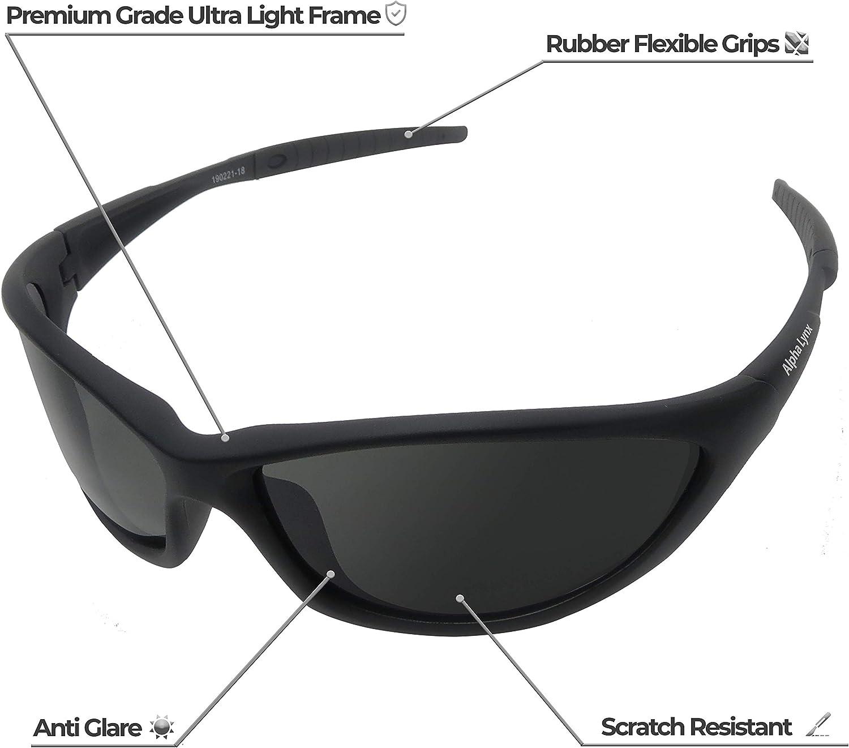 Bicicleta Gafas de Sol polarizadas conducci/ón only y Pesca Camping esqu/í Gafas de Deporte Unisex Gafas de conducci/ón Anti UV400 para Ciclismo