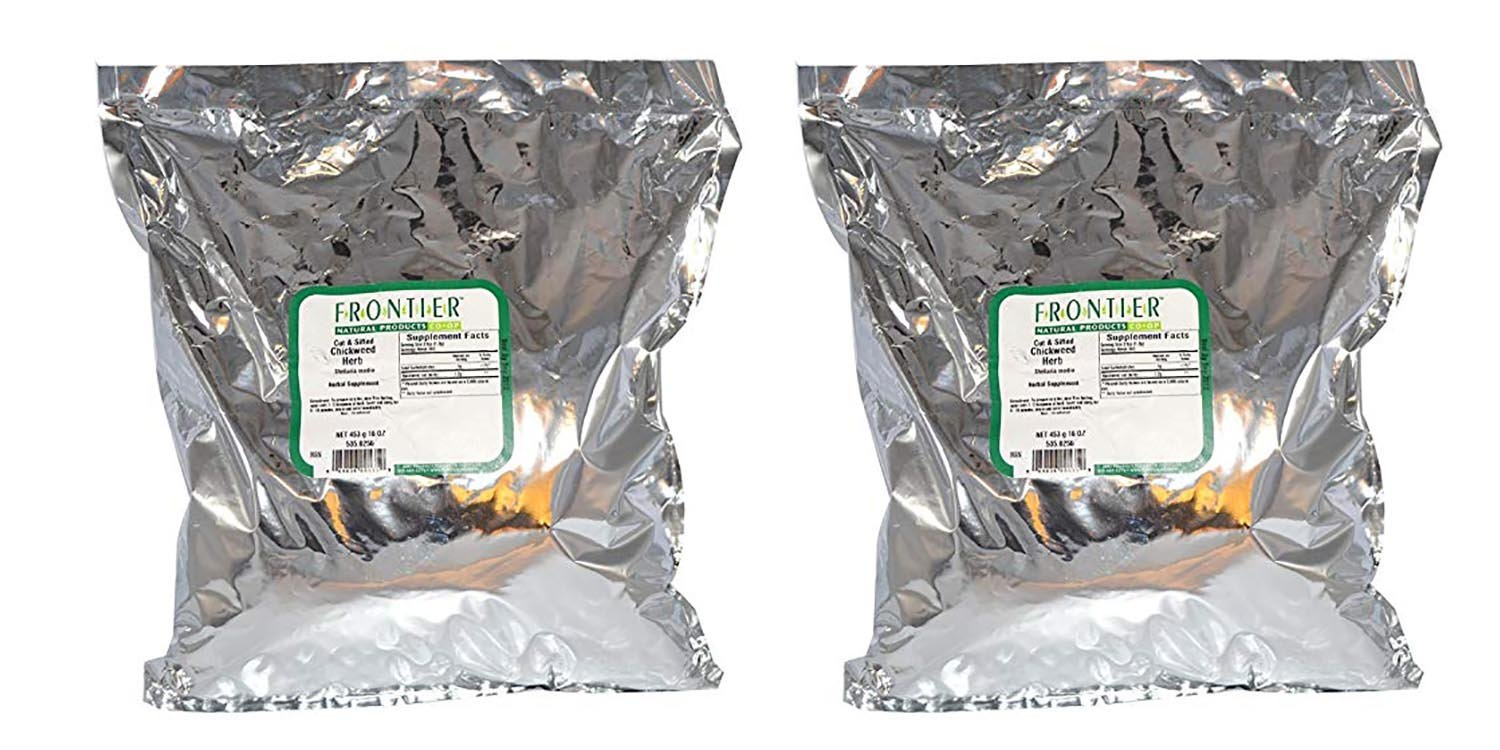 Set of 2 Frontier Chickweed Herb, Cut & Sifted 1 lb Bundled by Maven Gifts