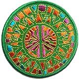 Colorido Paz Parche ' 7.7 x 7.7 cm ' - Parche Termoadhesivos Bordado Parches Para La Ropa Termoadhesivo Apliques Iron on Patch Catch The Patch