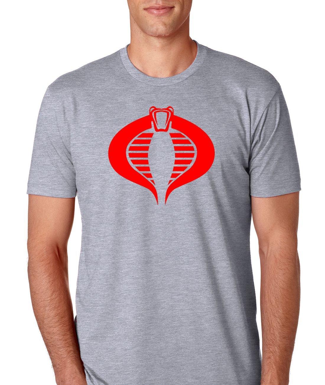 6d1127d89 G.I. Joe Men's Cobra T-Shirt (Small, Heather Grey)