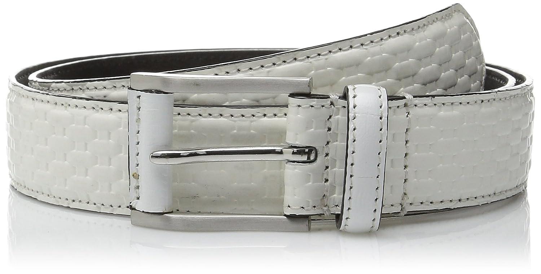 Stacy Adams Mens 32mm Basketweave Belt