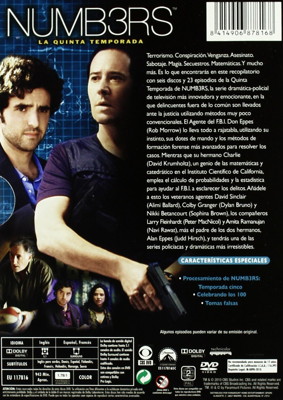 Amazon.com: Numb3rs (5ª Temporada: Rob Morrow, Judd H David Krumholtz: Movies & TV