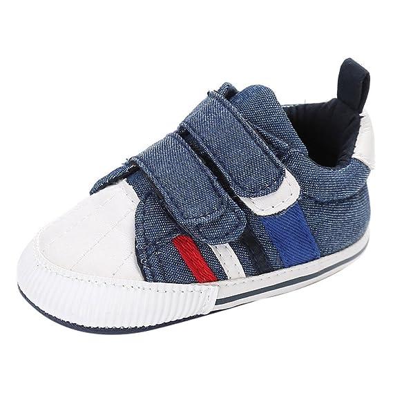 YanHoo Zapatos para niños Bebé cosiendo Zapatos de bebé Zapatos de Cuna para bebés recién Nacidos bebés, niñas y niños Suela Suave Antideslizante Zapatillas ...