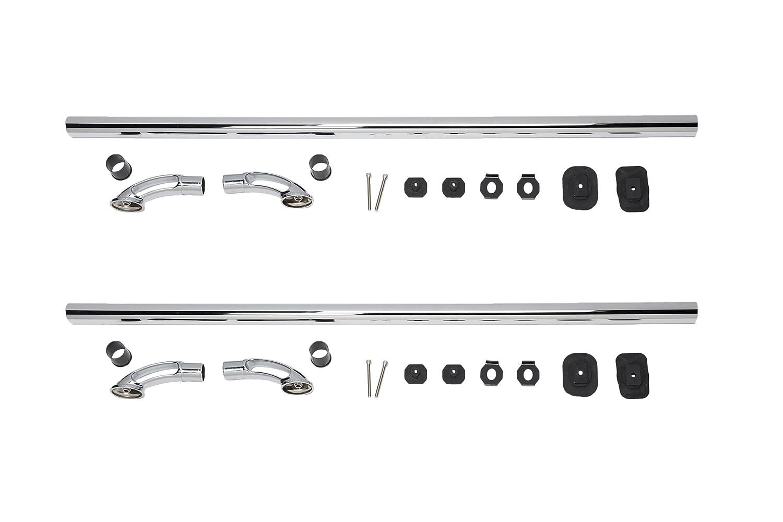 Putco 89890 Polished Stainless Steel Locker Side Bed Rail Set of 2