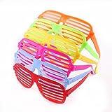 Gafas postigo de juguete regalo de fiesta de los años 80, pack de 12, colores aleatorios.