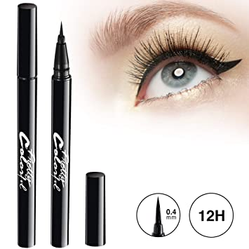 Lower Price with New Professional Long Lasting Waterproof Black Eye Liner Pen Makeup Tools Fashion And Beautiful Easy To Paint Fast Dry Fashionable Style; In