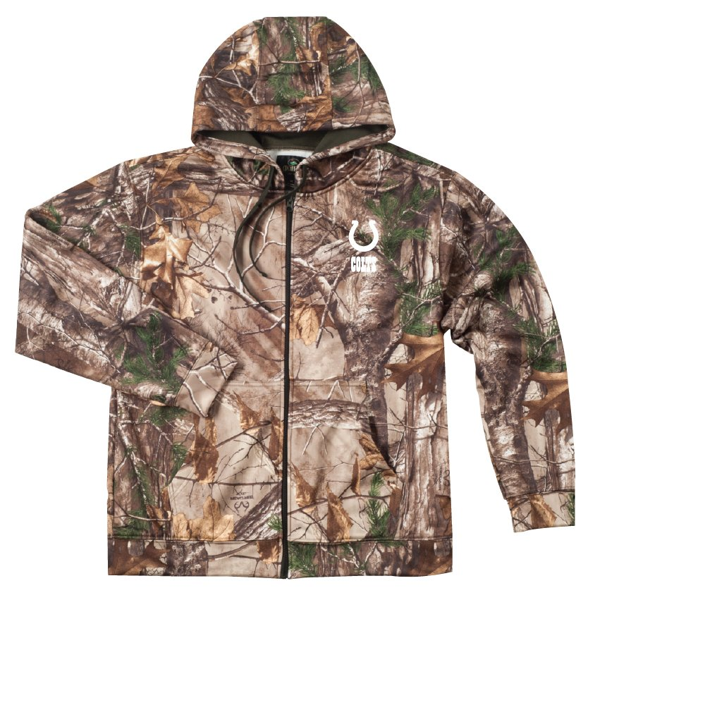 6e4e12ff Dunbrooke Apparel NFL mens Camo Trophy Xtra Tech Fleece Full Zip hoodie